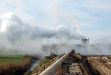 About 90,000 houses started using geothermal energy as well as 3,000 acres of greenhouses