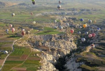 Cappadocia was visited by over half milliontourists in the first 4 months of 2013. 20 percent rise from last year