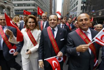 Turkey's EU Minister Egemen Bagis said Turkish parade was a cultural show of power