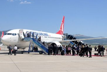 Turkish Airlines began its flights to France's southeastern coast city of Marseille four times a week