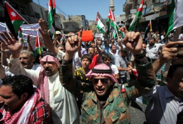 Demonstrators in Amman called for political reforms