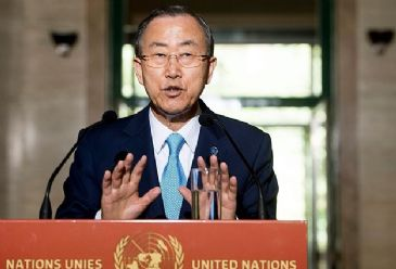 UN's Ban also called for support for the planned conference in Geneva