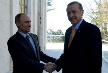 Turkish PM Erdogan and Russian President Putin held a meeting in Sochi prior to official opening of 2014 Winter Olympics.