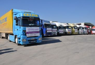 IHH Humanitarian Relief Foundation sends 26 trucks of aid to Syria within scope of