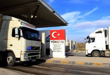 Over a hundred trucks are waiting to cross Turkey`s border gate with Bulgaria.