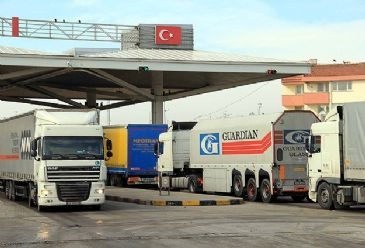 Bulgaria keeps tight control on the passenger lists, insurance documents and toll roads of Turkish trucks and buses.