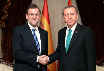 Spain`s Prime Minister Rajoy attends Turkey`s intergovernmental summit on Tuesday.