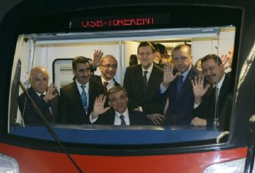 Both prime ministers spoke at the opening of a new Metro line in Turkey`s capital, which a Spanish company helped building.
