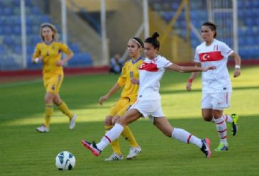 Ukraine defeats Turkey 1-0 in 2015 FIFA Women's World Cup Qualifying Round match in Adana province.