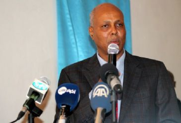 Somali Prime Minister Abdiweli Sheikh Ahmed arrives in Djibouti on Sunday