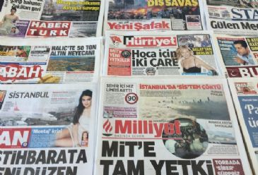 Turkish dailies on Thursday covers a new bill boosting the powers of Turkey`s top spy agency.