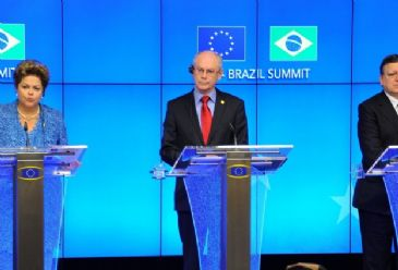 Brazil's president says partnership between the EU and Brazil could boost global economic recovery.