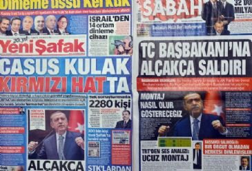 Turkish dailies Yenisafak and Sabah said Wednesday that Turkish Prime Minister Recep Tayyip Erdogan's secure phone line was tapped and cryptology experts who designed his crypto phones at country's main research funding and science management organization -- the Ankara-based Scientific and Technolog