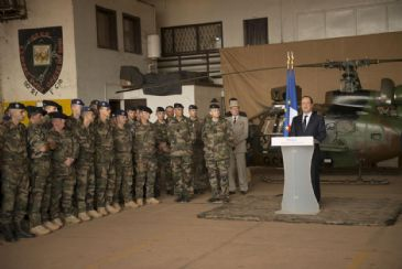Hollande went on to thank French troops for their efforts in