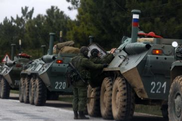 Ukraine's military units in Perevalnoye, some 20 km far from Crimea's capital Simferopol, were encircled by more than 200 Russian soldiers