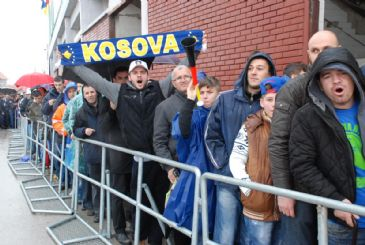 Kosovo's national soccer team draw 0 - 0 with Haiti