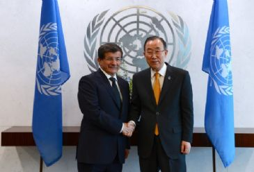 Syria and Cyprus also raised in phone conversation between Ahmet Davutoglu and Ban Ki-moon