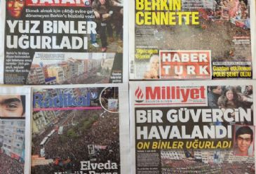 Turkish dailies on Thursday mainly cover the funeral of 15-year-old Gezi protests victim with the attendance of thousands of people, the protests following his death, also the European Parliament's 2013 progress report on Turkey