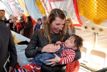 Syrian refugee camp in Adana, southern Turkey, is visited by the U.S. Deputy Secretary of State