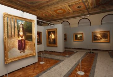 Resided in by Ottoman crown princes the Dolmabahce palace is now home to paintings representing Late Ottoman Life