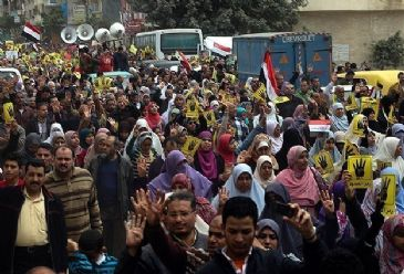 Egypt was rocked by a total of 1,044 protests in the past month of February, a new report showed on Monday.