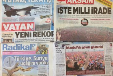 Turkish dailies on Tuesday covered: the repercussions from a Syrian jet being shot down by Turkish forces; the sentencing of 529 MB supporters to death in Egypt; and the missing Malaysian Airlines Flight MH370 which officials are now claiming has crashed in the southern Indian Ocean.