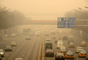 Flights have been cancelled due to the heavily polluted air surrounding central and northern China.