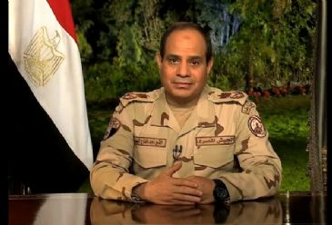 Al-Sisi visits his presidential campaign premises