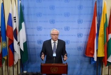Russia's UN ambassador Vitaly Churkin tells Anadolu Agency that arms experts from foreign states raised no concerns during inspections this month
