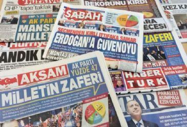 Turkish dailies on Monday widely cover Sunday's local elections, ruling AK Party's lead in the polls