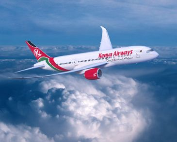 The airliner is the first of nine Dreamliner the Kenyan national carrier is to receive