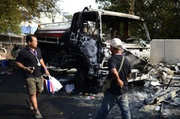 Spate of deadly coordinated explosions shake city in Muslim dominated southern Thailand; one person killed, 28 injured