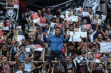 Egypt's April 6 protest movement on Sunday staged two rallies in downtown Cairo to mark the 6th anniversary of its launch in 2008 to protest the policies of then president Hosni Mubarak.