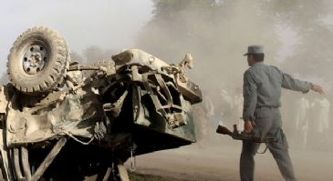 Two separate bomb attacks on Monday leave 15 civilians and four policemen dead, two days after the presidential polls