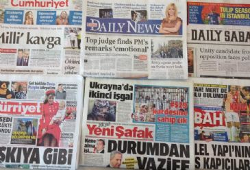 Turkish dailies covered Tuesday reactions on the lifting of Twitter ban, the latest developments in Ukraine and Turkey's prime minister's meeting with Turkish media representatives in Istanbul