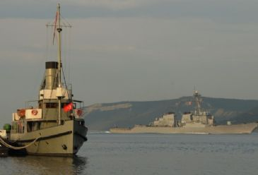 US and French warships passed through Canakkale Strait early on Thursday