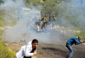 Dozens of Palestinians suffered teargas inhalation on Friday when Israeli forces dispersed several protests against the Israeli occupation in the West Bank.