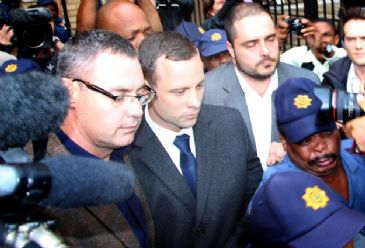 Pistorious took the stand on Friday for the fifth day to answer charges that he murdered his 29-year-old model girlfriend.