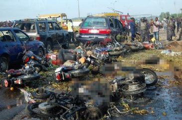 Nigerian authorities said 71 people had been confirmed killed