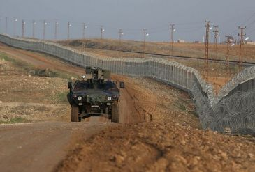 Shots were taken Wednesday from the Syrian side towards Turkey's Border Patrol Team who were on patrol in the Turkey-Syria border