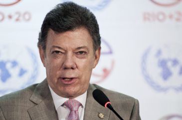 Bogota's Mayor Petro reappointed by President Santos after Superior Tribunal Court of Bogota ruling on Tuesday