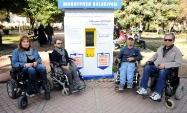 Turkey's major cities are full 'booby traps' for the disabled, says one campaigner amid claims that laws to improve access are being ignored