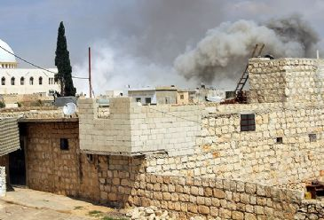 Forces loyal to Syrian President Assad launched artillery and rocket attacks in a number of opposition-held areas over the weekend