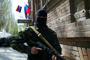 Pro-Russian separatists in occupied government building in eastern Ukrainian city