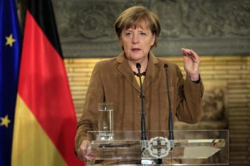 The German chancellor calls for immediate release of abducted observers