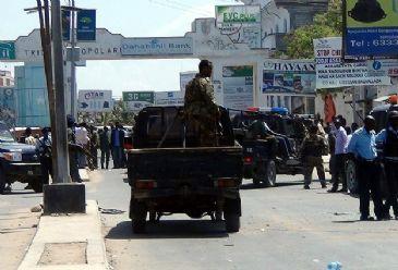 At least nine people were killed in a car bomb blast in Somali capital Mogadishu on Saturday, a police source said.