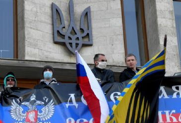 Another key state building in Donetsk fell to separatist hands while Kiev's