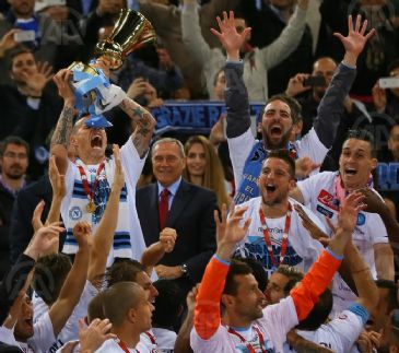 Napoli beats Fiorentina 3-1 to win the Italian cup for the fifth time in the club's history.