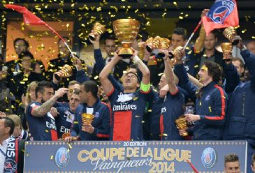 France's Paris Saint-Germain clinch their 2013-14 French Ligue 1 title with two games to spare
