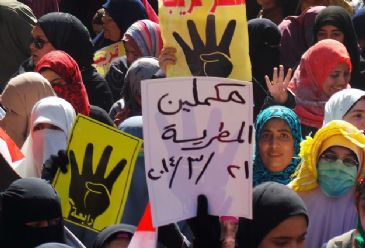 Supporters of ousted president Mohamed Morsi staged several morning rallies on Friday against a presidential bid by former army chief Abdel-Fattah al-Sisi.